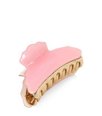 Light Pink and Gold Bulldog Hair Clip  @New Look