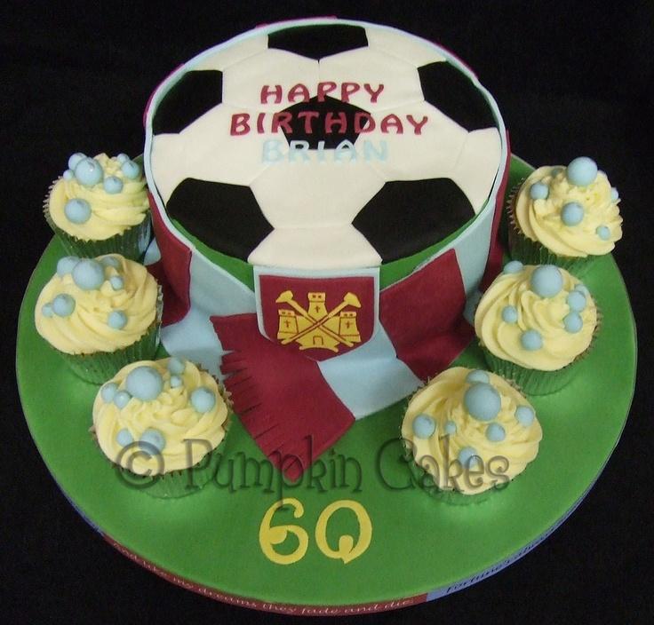 Gluten free madeira cake for a West Ham fan