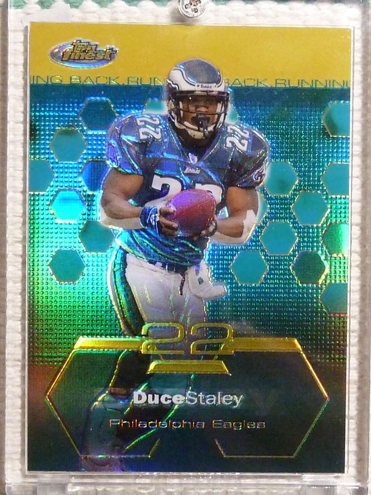 $6.99 2003 Topps Finest DUCE STALEY Gold Refractor #6 Eagles #13/50 South Carolina NFL #PhiladelphiaEagles http://www.ebay.com/itm/2003-Topps-Finest-DUCE-STALEY-Gold-Refractor-6-Eagles-13-50-South-Carolina-NFL-/282052837387?ssPageName=STRK:MESE:IT
