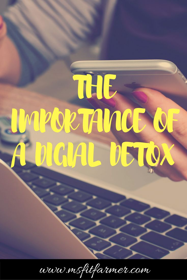 The importance of a social media detox | Why you need a break from technology and how-to go about the process. More at https://msfitfarmer.com via @msfitfarmer