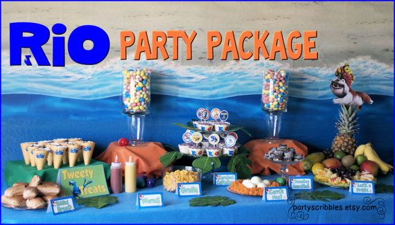 RIO Party Package Printable DIY by PartyScribbles on Etsy ...signed, thank you tags, water bottle wrappers, ect