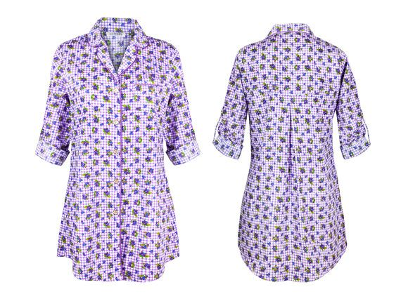 ON SALE! 100% cotton nightshirt in lilac Cassie Berry by Lunaby $50  Perfect fo all beautiful sleepwear lovers, you'll never look at that old t-shirt again.