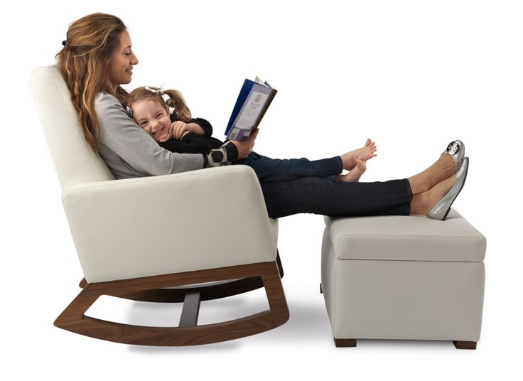 Beautiful Monte Design joya rocker with storage ottoman in white bonded leather and walnut base For Your Plan - Review rocker and ottoman Amazing