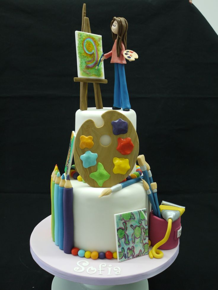 Art Gallery Birthday Cake : Best 25+ Artist cake ideas on Pinterest Painter cake ...