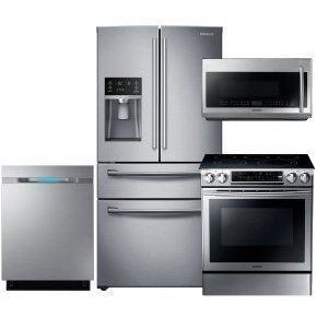Elegant Samsung Stainless Steel Kitchen Package With Side By Side Refrigerator  Freestanding Electric Range Full Console Dishwasher And O Part 12