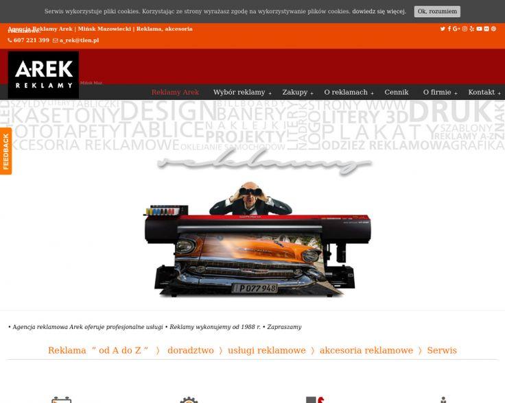 Screenshot of www.reklamy-arek.pl