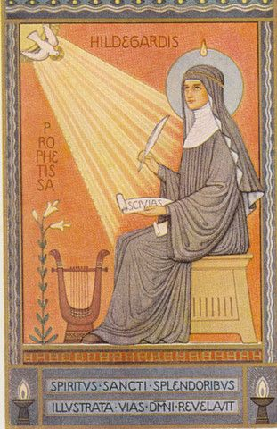 "St. Hildegard of Bingen!  She is one of only four female ""Doctors of the Catholic Church"".  She understood we need to heal mind, body and soul!"