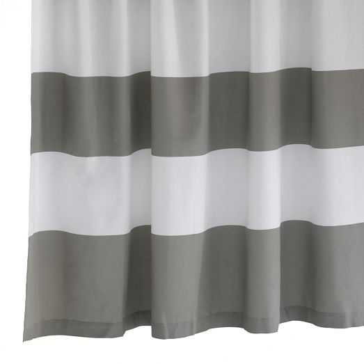 Curtains On Ceiling Track Yellow and Gray Striped Showe