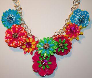 DIY Faux Enamel FlowersDimensional Magic, Faux Flower Diy, Crafts Art, Enamels Flower, Crafts Mod, Flower Necklaces, Flower Create, Dimensions Magic, Faux Enamels