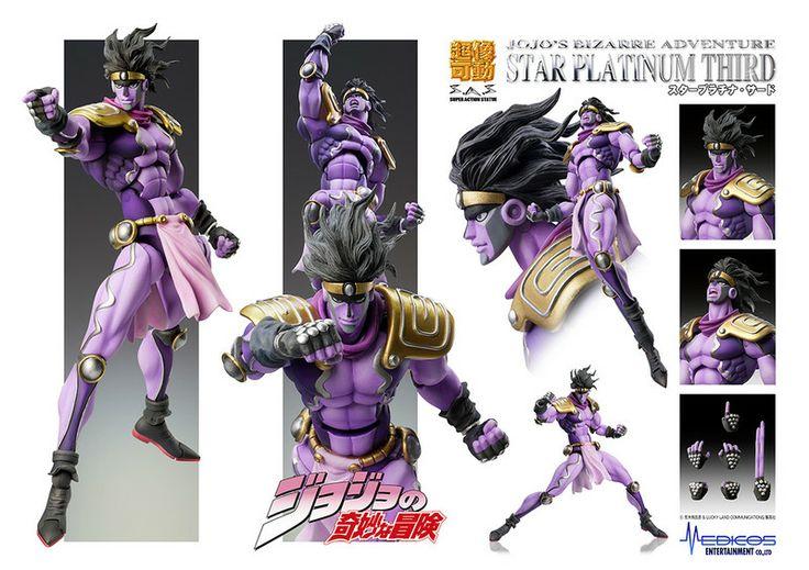Crunchyroll - Store - Star Platinum Third Jojo's Bizzare Adventure Super Action Statue Posable Figure