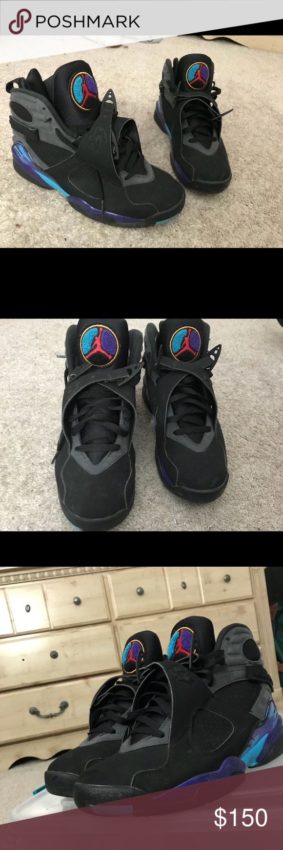 Aqua 8s jordan aqua 8 jordan very near deadstock Nike Shoes Sneakers