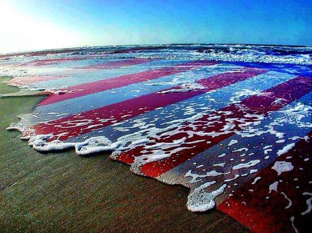 Image result for american flag in the ocean