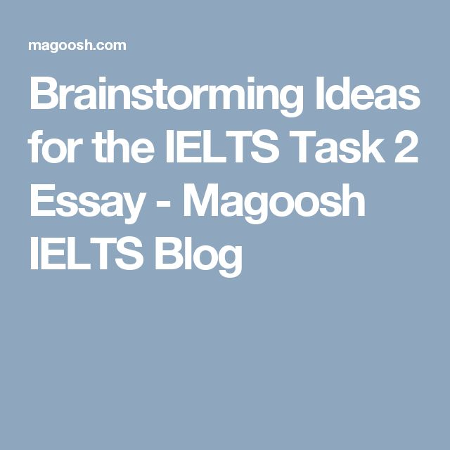 brainstorming and ideas essay Brainstorming and planning: a common problem for students preparing for the test is that they can't come up with ideas for the essay this lesson takes you through the process of generating ideas for your essay through brainstorming, and then putting them into a plan.