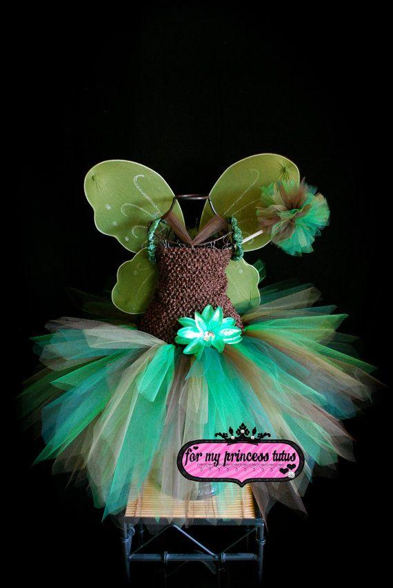 Woodland Fairy Tutu Dress/Costume by formyprincesstutus on Etsy, $45.00