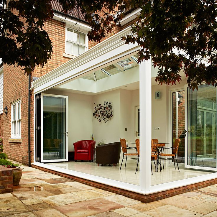 41 best images about corner meet bifold doors on pinterest for Conservatory doors exterior