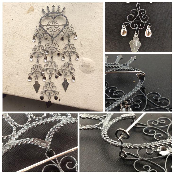 "Handmade ""Mariasølje"" in 925 Sterling silver.  Piercingheartbeat@gmail.com"
