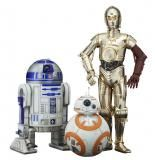 Pack 3 estatuas C-3PO, R2-D2 y BB-8. Star Wars Episodio VII. Línea ARTFX+. Kotobukiya