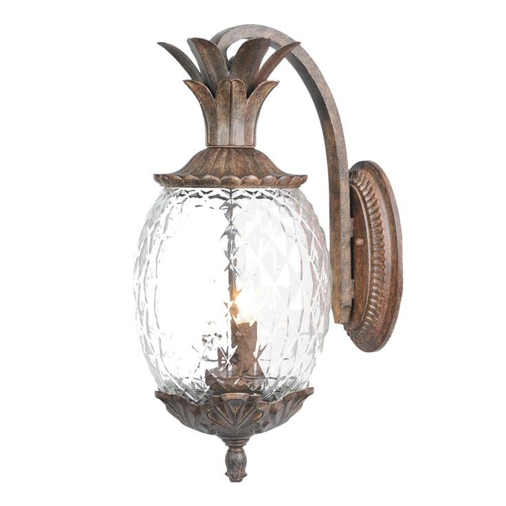 Pineapple sconce lighting pinterest lighting front porches and front doors for Pineapple exterior light fixtures