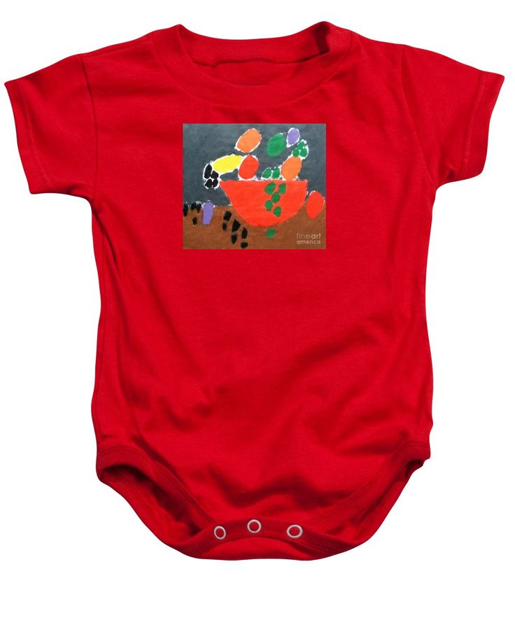 Patrick Francis Baby Onesie featuring the painting Bowl Of Fruit 2014 by Patrick Francis