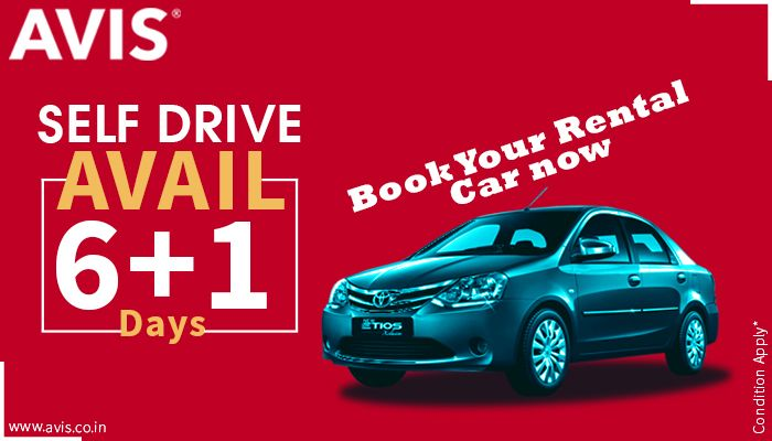 Your most trusted car rental company, AVIS India has come up with an exciting travel option for all its esteemed customers on a daily, weekly and monthly basis. Get billed for just 6 days while booking for 7! That means, 1 day travel expense would be completely waved off!! What's more? You can get to drive the car all by yourself!!! Hurry!!! Grab the keys now by visiting our website
