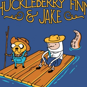 Huckleberry Finn & Jake T-Shirt - http://teecraze.com/huckleberry-finn-jake-t-shirt/ -  Designed by Busted Tees