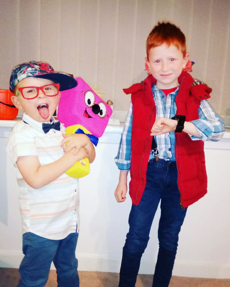 Timmy mallett & marty Mc fly  80s fancy dress