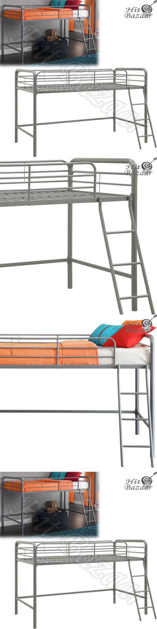 Kids Furniture: Loft Bunk Bed Junior Twin Metal Bedroom Furniture Kids Toddler Ladder Rail Frame -> BUY IT NOW ONLY: $122.68 on eBay!