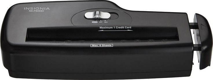 6-Sheet Strip-Cut Portable Paper Shredder - Black