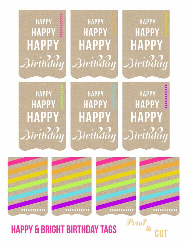 Happy Birthday Tags Printable Freebie | [ One Velvet Morning ]
