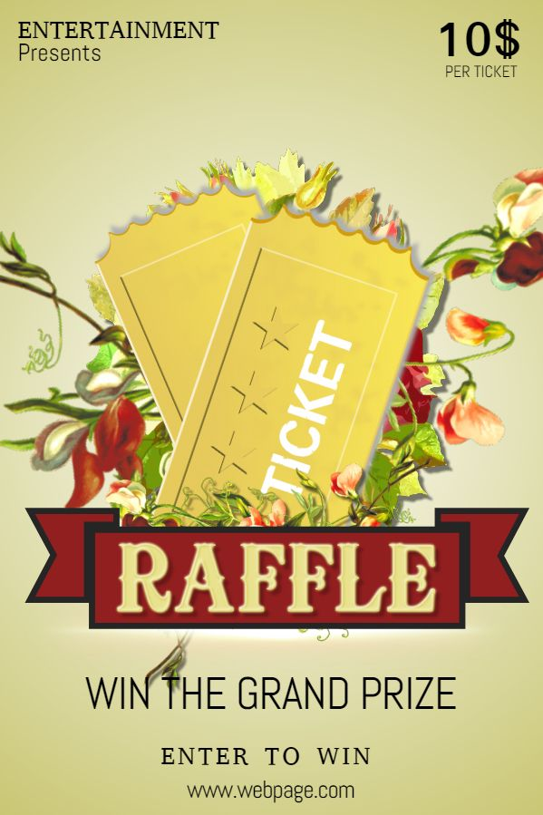 raffle flyer ticket social media template contest posters