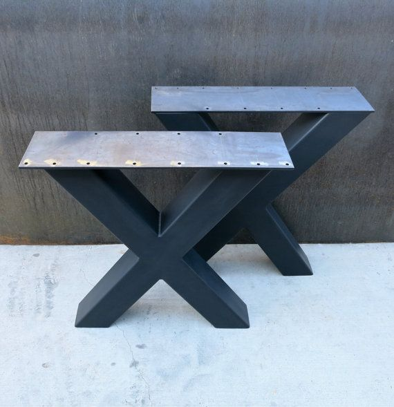 Industrial X Shape Metal Table legs 4x4
