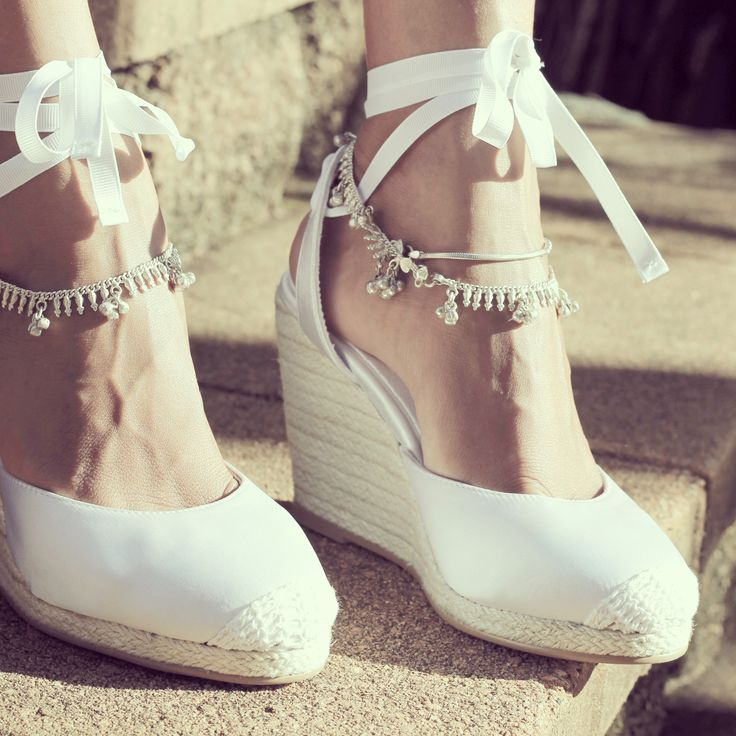 Beach wedding shoes! The perfect option! Available now at foreversoles.com