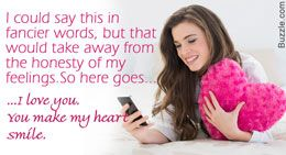 Text message to say I love you