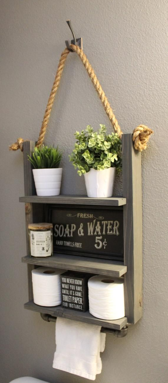 Hanging Bathroom Storage Shelf with Industrial Towel Bar WHAT YOU NEED TO KNOW: …   – estantería