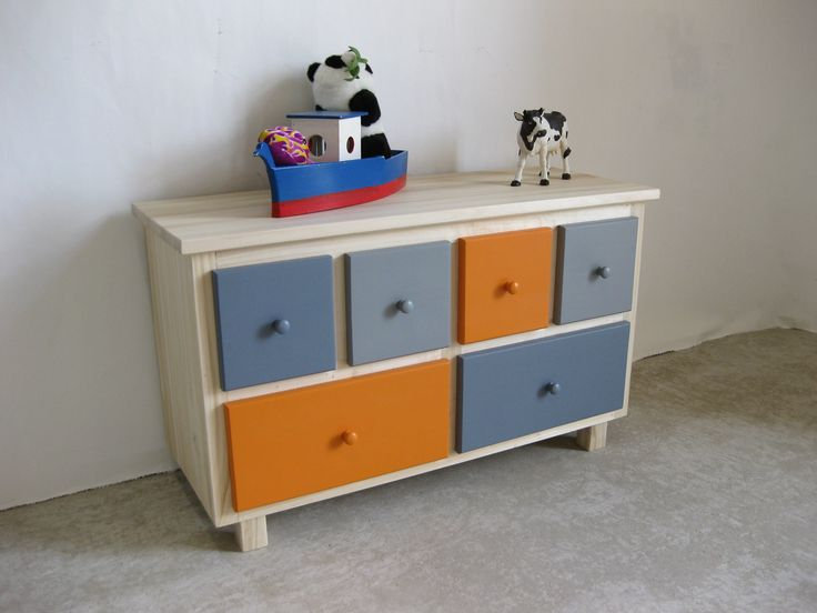 meuble de rangement bois color orange et gris beautiful d co for childrens pinterest orange. Black Bedroom Furniture Sets. Home Design Ideas