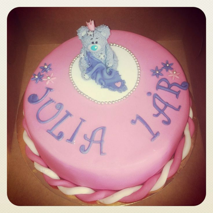 Baby girl birthday cake , Tatty Teddy