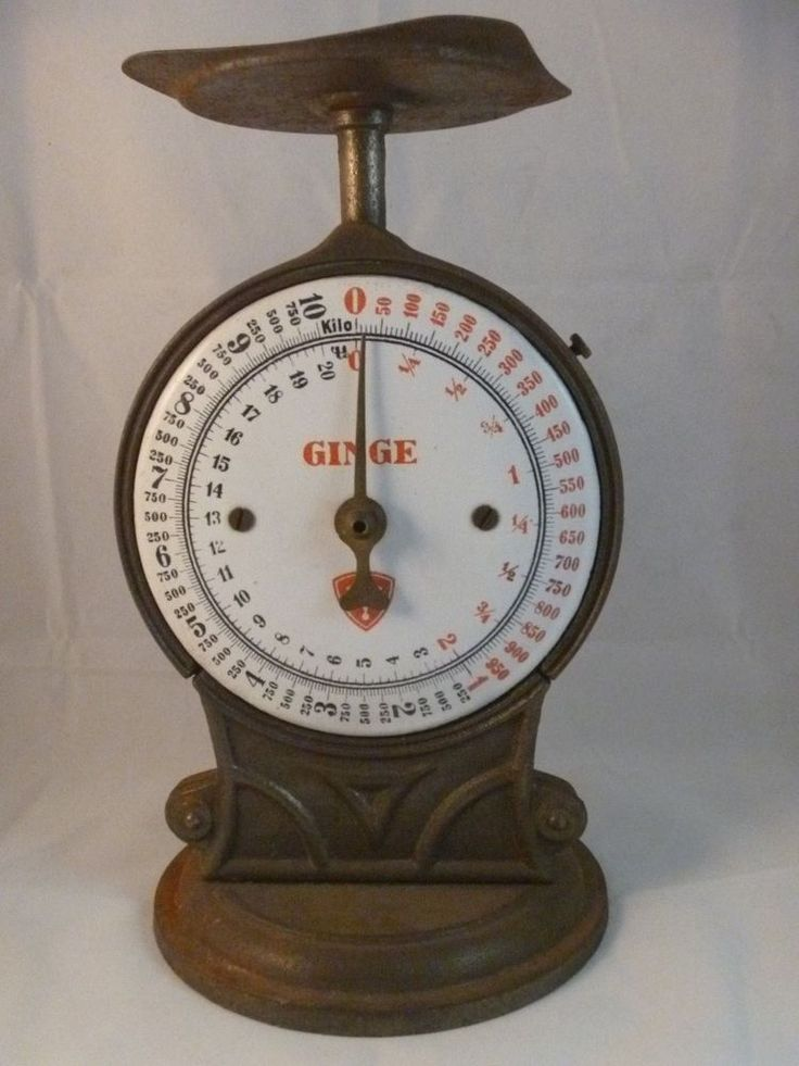 Antique Ginge Kitchen Scale Porcelain Face 20 Lbs