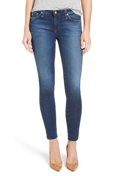 AG 'The Legging' Ankle Jeans (7 Year Break with Raw Hem) | Nordstrom - Nordstrom