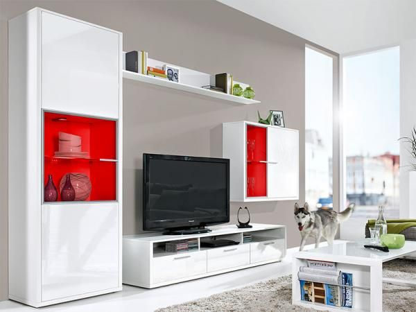 Contemporary Game by Arte-M Wall Storage System in High Gloss White #home #interiordesign #contemporaryfurniture #furniture #house #interiors
