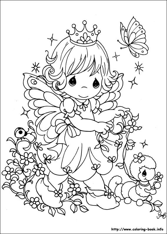fairy girl precious moments coloring pages