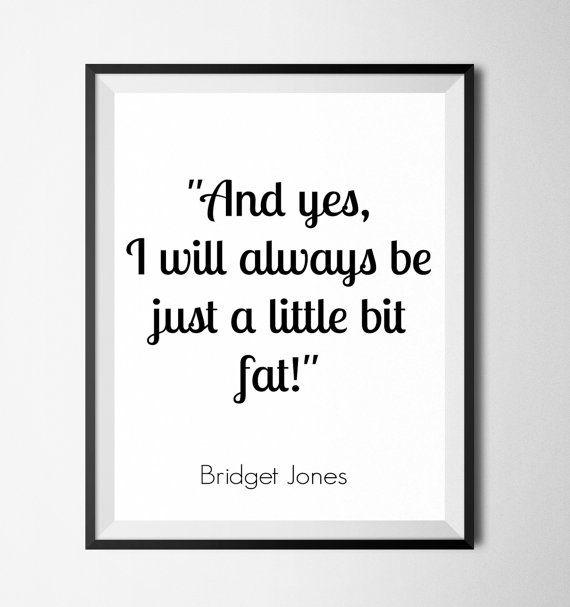 Bridget Jones funny quote printable / movies by SoulPrintables