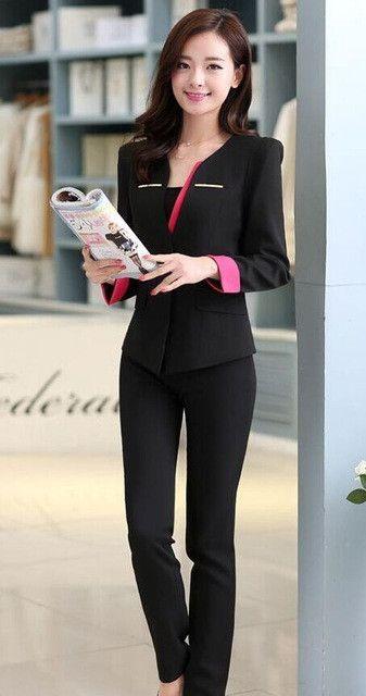 Office Uniform Designs Women Pant suits Hot Sale Single Button Women Business Suits Formal Office Work Wear Elegant Women Suits