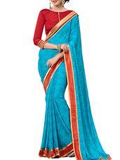 blue chiffon saree - Online Shopping for Sarees