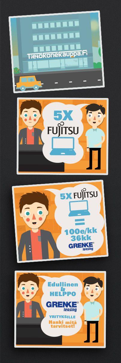 Flat design ad for an online store.  #FlatDesign #FlatArt #Ad #Tietokonekauppa #Background #Inspiration  www.tietokonekauppa.fi