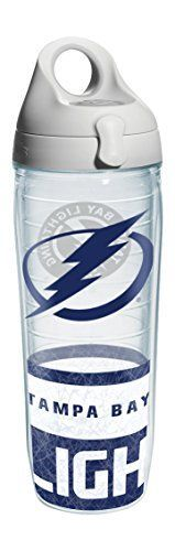 Tervis 1145526 NHL Tampa Bay Lightning Logo Wrap Water Bottle with Grey Lid 24 oz Clear -- Find out more about the great product at the image link.