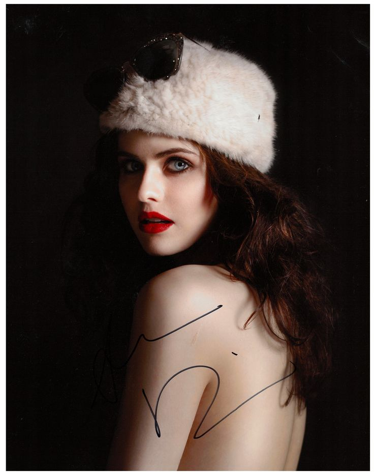 Alexandra Daddario signed photo
