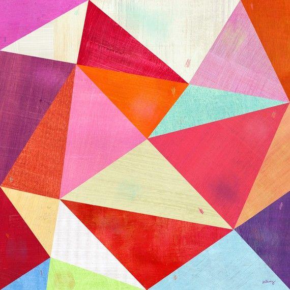 triangle colorful triangles art - photo #4