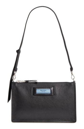 41730e2e27ce Prada Etiquette Calfskin Shoulder Bag
