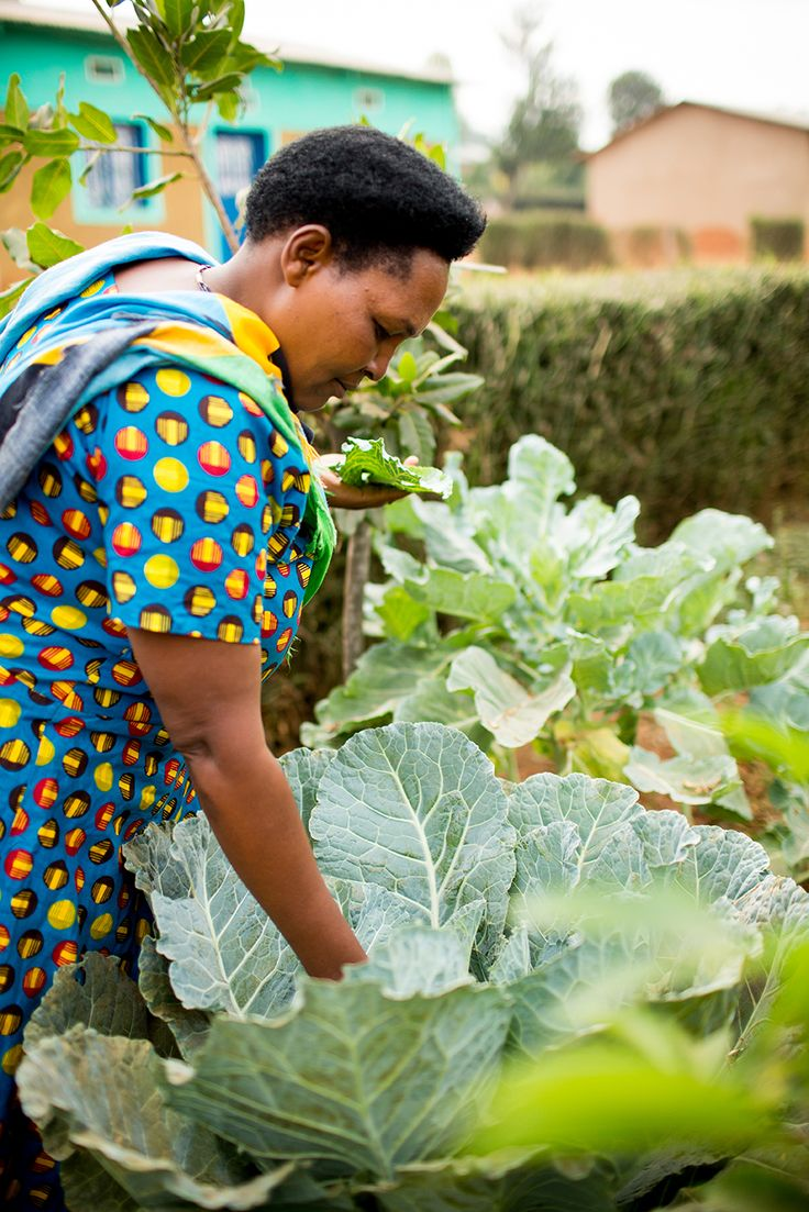 A friendly face in #Rwanda working hard in the garden. (Photo credit: Esther Havens)