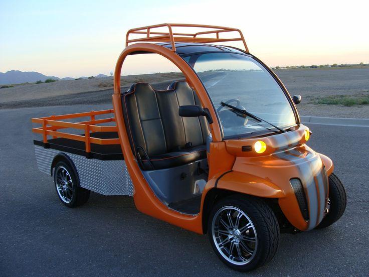 Innovation Motorsports GEM Car truck, competition orange